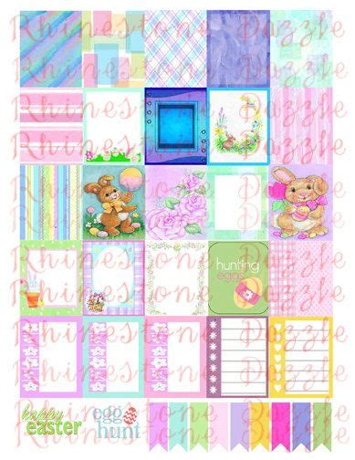 free printable easter planner easter digital planner stickers 2 printable planner