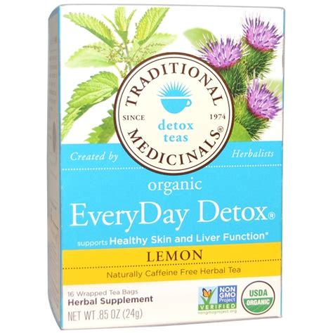 Traditional Medicinals Teas Organic Lemon Everyday Detox by Traditional Medicinals Detox Teas Organic Everyday