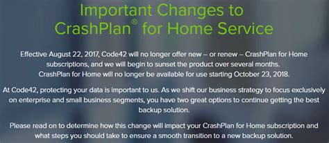 attn crashplan customers the crashplan for home