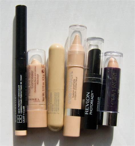 Olay Concealer warpaint and unicorns to compare drugstore concealer sticks cover olay l oreal