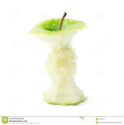 green apple core stock image image 25031041