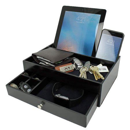 Mens Nightstand Valet by Valet Drawer Charging Station Black Nightstand Organizer
