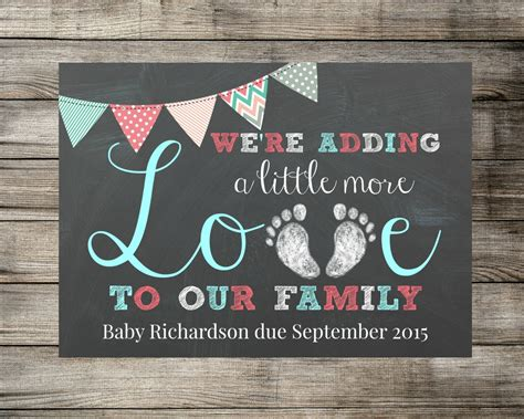 free pregnancy announcement card templates baby pregnancy announcement we re adding a more