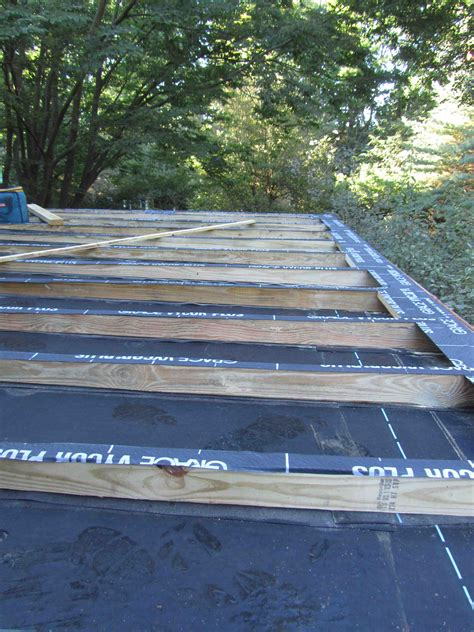 Sleeper Deck Construction by Roof Sleepers A Metal Curb Is The Best Permenant