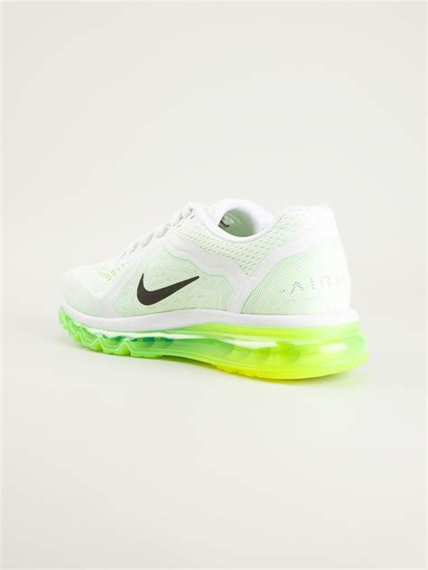 neon shoes nike air max 2014 neon sole sneakers in white for lyst