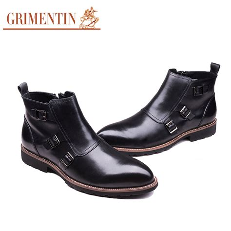 comfortable mens dress boots grimentin brand luxury zip mens ankle boots genuine