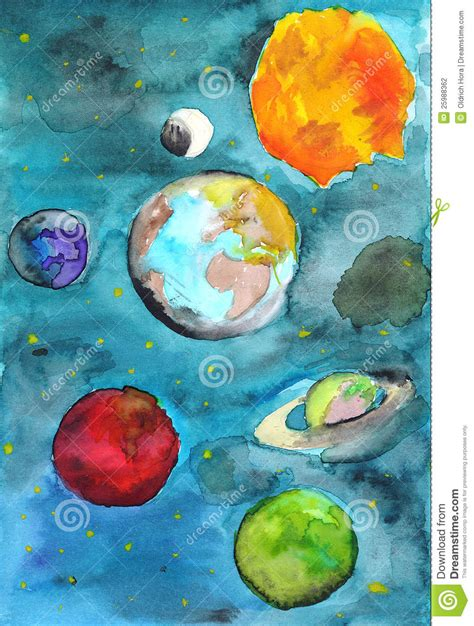Solar System Stock Illustration Image Of Mars Uranus Planet Coloring Pages With The 9 Planets
