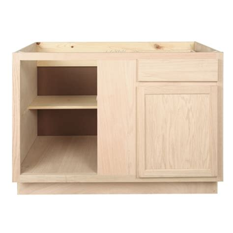 corner base kitchen cabinet blind corner base kitchen cabinet 48 quot unfinished oak
