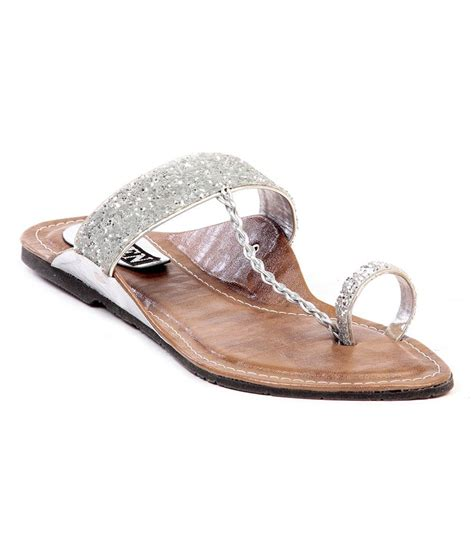 silver one slippers ten ethinic silver slippers price in india buy ten