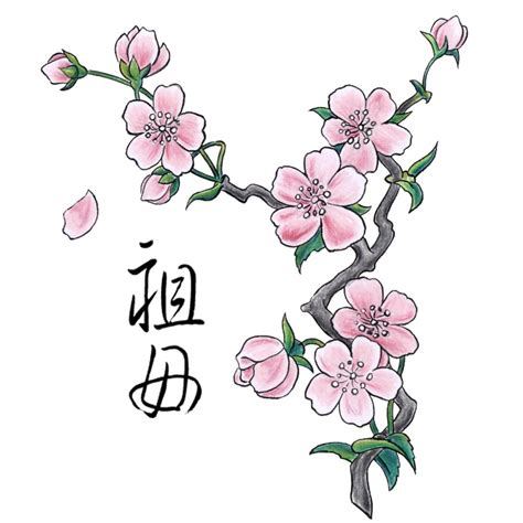 cherry tattoo meaning japanese colorful cherry blossom design ideas