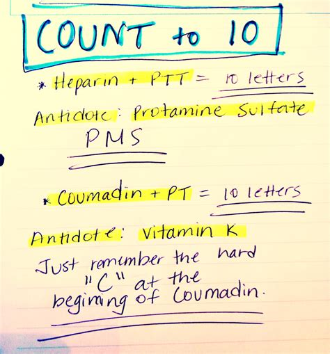pt inr color rightatrium notes tricks to remember which test is used