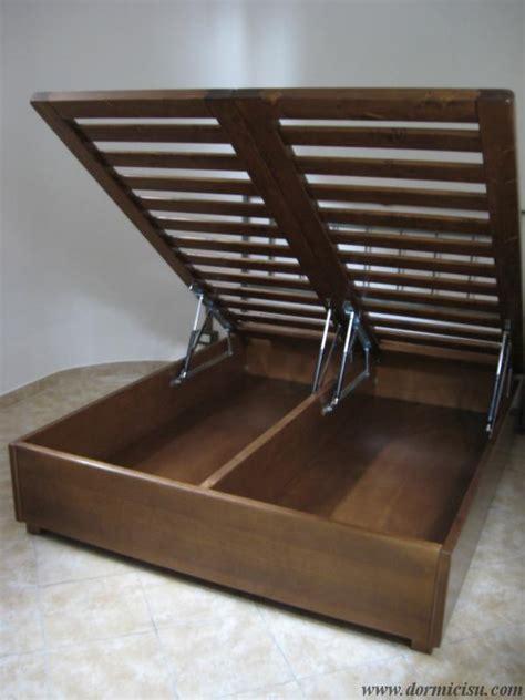 da letto in legno letto contenitore in legno massello reti singole
