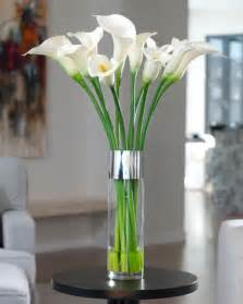 artificial calla centerpieces flowers on peacock feathers calla and