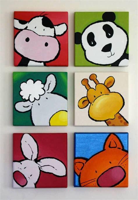cuadros infantiles animales composicion six animales cuadros infantiles pinterest