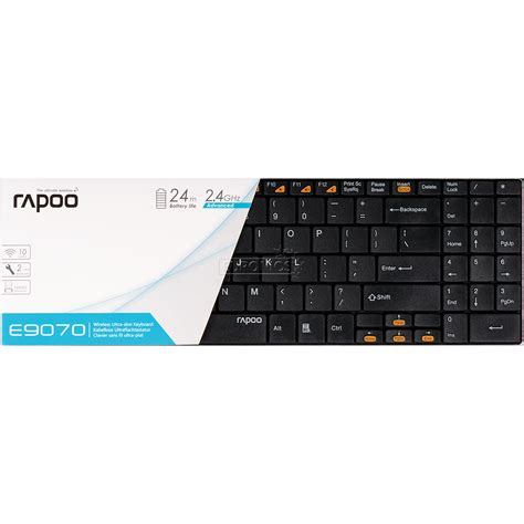 Keyboard Wireless Rapoo wireless keyboard e9070 rapoo rus 6943518911786