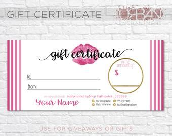 Printable Coupons Etsy Lipsense Gift Certificate Template Free