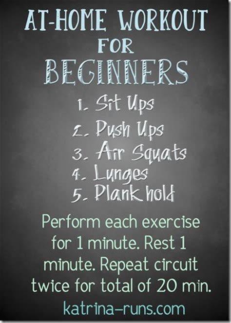 at home workout for beginners runs for food