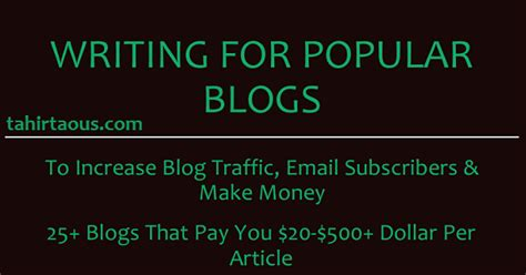 Make Money Online Writing Articles - make money writing list of 26 blogs that pay upto 500