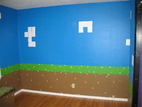 minecraft wallpaper for bedroom my daughter s minecraft inspired bedroom bedrooms