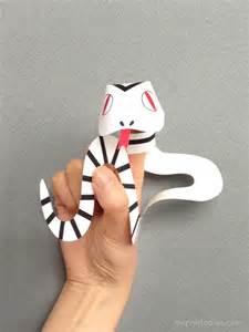 Snake Puppet Template by Snake Finger Puppets Mr Printables