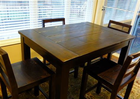 ana white tryde counter height kitchen table diy projects