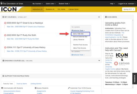 its help desk uiowa dashboard icon wiki integration information