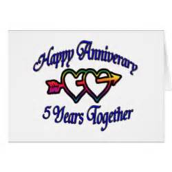 5 year anniversary cards 5 year anniversary card templates postage invitations photocards