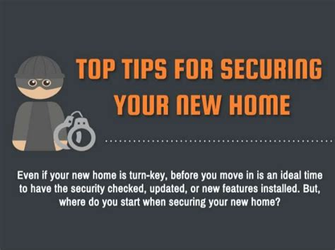 top tips for securing your new home