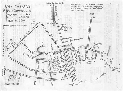 new orleans streetcar map historical map new orleans streetcar trackage