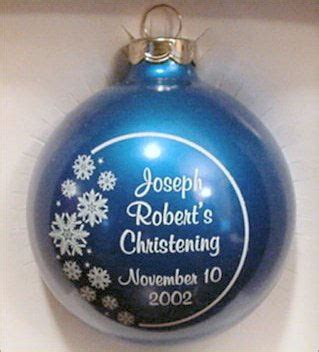 christening party favor ornament