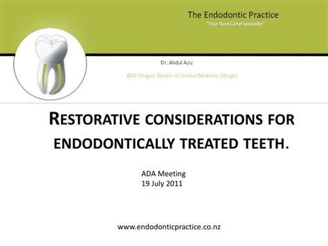 considerations for a new definition ppt restorative considerations for endodontically
