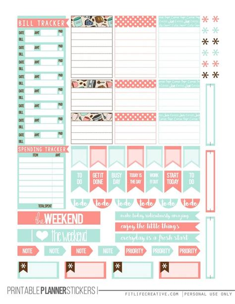 printable happy planner pages but first coffee free happy planner printable stickers 2