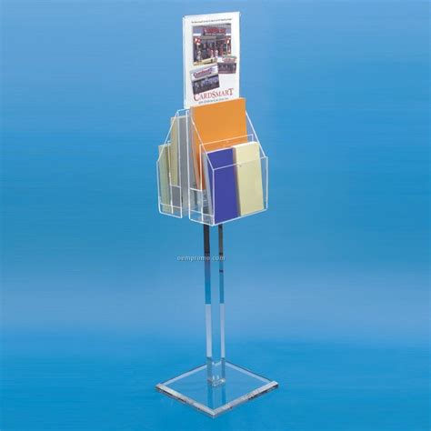 Reel Stand Acrylic 2 sided acrylic display stand w sign holder china