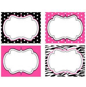 minnie mouse pink zebra food labels