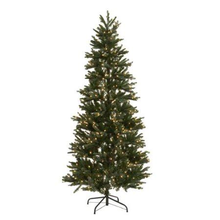 artificial silver tip tree regency 7 5 slim silver tip frasier pre lit tree walmart