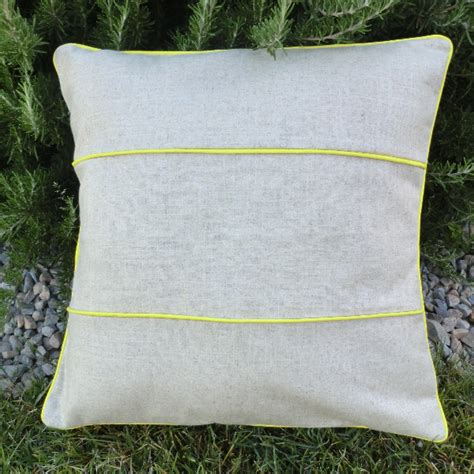 piping striped linen pillow 171 best fabric store