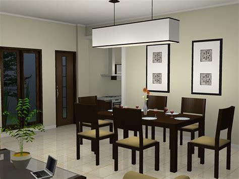 desain interior ruang makan sederhana minimalis modern