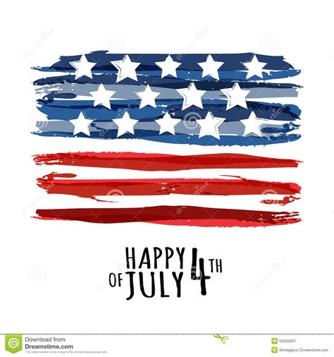 concept design usa happy 4th of july usa independence day vector abstract