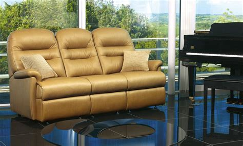 sherborne keswick leather suite sofas recliners
