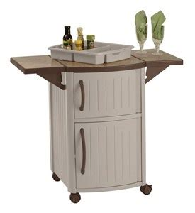 Serving Station Patio Cabinet by Mobile Serving Station Patio Cabinet In Patio Side Tables