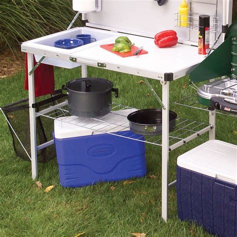 Coleman Sink Table by Coleman Pack Away Deluxe C Kitchen With Sink Review