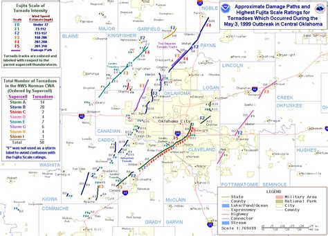 breakout map the great plains tornado outbreak of may 3 4 1999