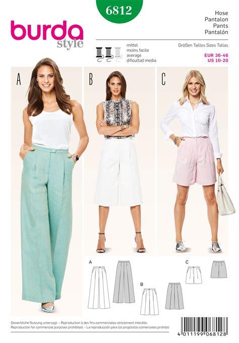 pattern sewing buy burda 6812 burda style pants jumpsuits