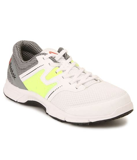 reebok carthage run white gray running sports shoes