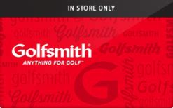 Golfsmith Gift Card Balance - golfsmith in store only gift card check your balance online raise com