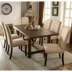 rustic dining room sets for sale furniture of america felicity 7 piece rustic walnut dining