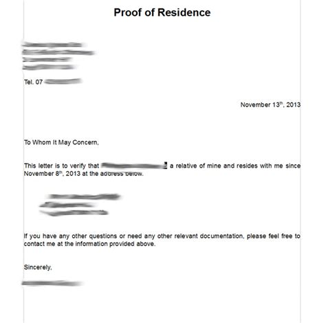 Best Photos Of Proof Of Residency Exles Proof Of Residency Letter From Landlord Proof Of Proof Of Residency Letter Template