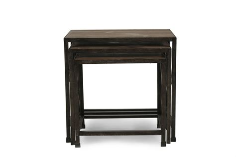 nesting accent tables ashley distressed pine nesting end tables mathis brothers furniture