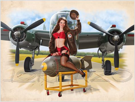 pin up wings tome 4 bombs away by lorenzodimauro on