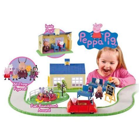 peppa pig swing playset peppa pig school time fun playset
